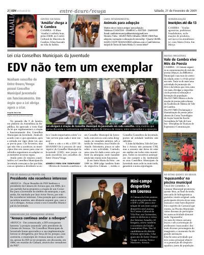 EDV Semário dá destaque à discussão havida na reunião da Câmara de Arouca